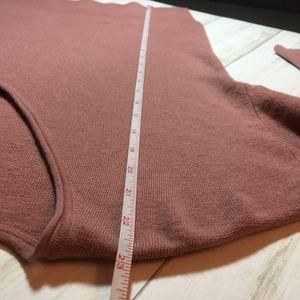 MM Lafleur Sweaters - M M Lafleur Dusty Pink V Neck Merino Wool Sweater